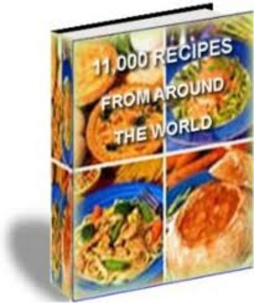Product picture 11000 RECIPES ** Ultimate Cookbook eBook ** w/ RESELL RIGHTS!