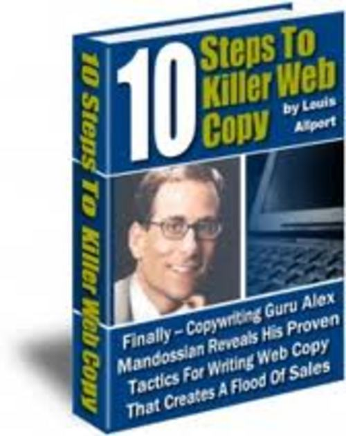 Product picture 10 Steps To Killer Web Copy + Master Resell Rights!!!